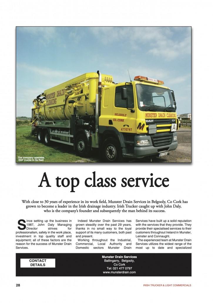 A top class service